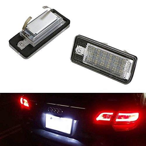 Gzcrdz 2 x 18 LED de voiture licence lampe de plaque d'immatriculation lampe pour A3 S3 A4 S4 B6 A6 S6 A8 S8 Q7
