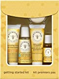 Burt's Bees Baby Getting Started Gift Set, 5 Trial Size Baby Skin Care Products, Lotion, Shampoo & Wash, Daily Cream-to-Powder, Baby Oil and Soap, Yellow