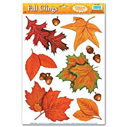 Fall Leaf Clings Party Accessory