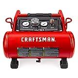 Craftsman Air Compressor, 3 Gallon 1.5 HP Max 155 Psi Pressure Oil-Free...