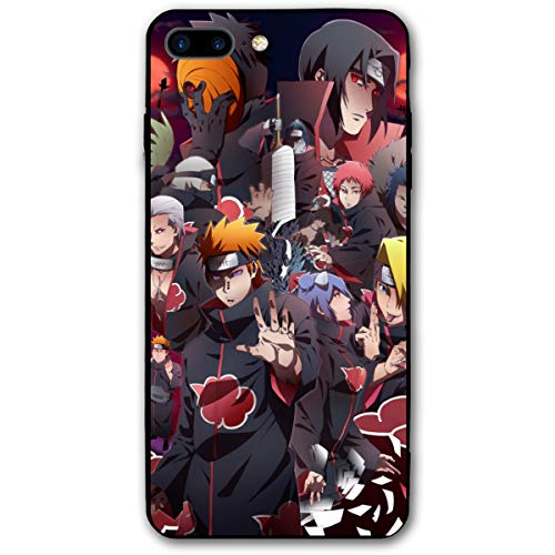 iPhone 7 Plus Case iPhone 8 Plus Case 5.5',Japanese Anime Case Plastic Cover for iPhone 7P/8P (Naruto-Akatsuki-2)