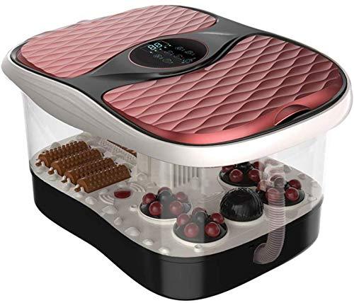 Elektrische voetmassage-apparaat voor voeten, automatische badkamer, elektrisch voetbed, voetverwarming, voetmassage, apparaat met intelligente thermostaat, wieldesign, kleur: R 50*38*32cm-red
