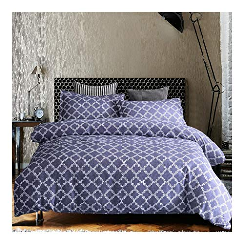 Duvet covers bedding sets 3Pcs Cotton Geometric abstraction Duvet Cover Set Queen For Bedroom, Comforter Printed Bedding Set Microfiber Soft Zipper Closure Pillowcases fitted sheets super king size be