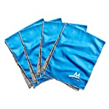 MISSION Cooling Towel Multi Family Pack Includes 4 Large Plus Cooling Towels, Blue, One Size