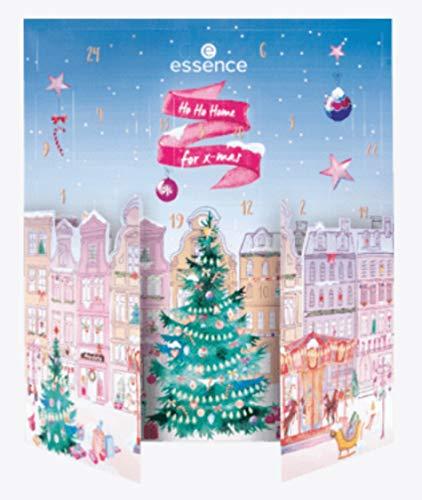 Essence Mädchen Adventskalender 2020 Beauty - Ho Ho Home 4 xmas Kalender für Frauen, Kosmetik Calender Wert 100€, 24 Pflege Produkte für Damen