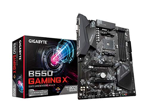 GIGABYTE B550 Gaming X (AM4 AMD/B550/ATX/Dual M.2/SATA 6Gb/s/USB 3.2 Gen 2/PCIe 4.0/HDMI/DVI/USB 3.1 Gen 2/DDR4/Gaming Scheda)