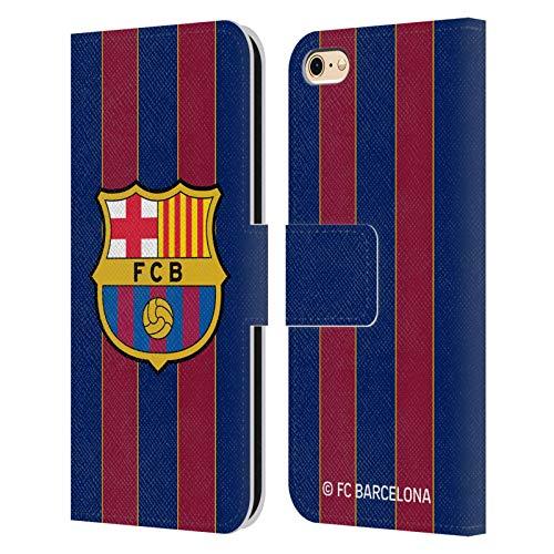 Head Case Designs Oficial FC Barcelona Casa 2020/21 Kit de Cresta Carcasa de Cuero Tipo Libro Compatible con Apple iPhone 6 / iPhone 6s