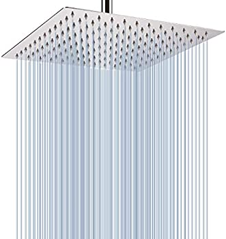 Voolan 12 Inches Stainless Steel Large Rainfall Shower Head
