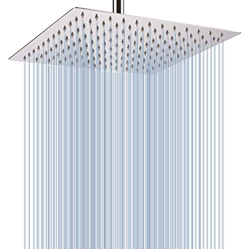 Voolan Rain Shower Head - California Compliant 1.8 GPM - Large Rainfall Shower Head Made of 304 Stainless Steel - Perfect Replacement For Your Bathroom Shower Heads