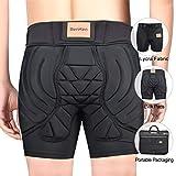 BENKEN Skiing Protective Padded Shorts Hosen Frauen Männer 3D-Schutz Hip Butt Guard Pad Atmungsaktive Schlagfestigkeit für Snowboarden (L)