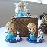 GSDGSD 3 unids/Set Disney Frozen Princess Q Veresion Cute Elsa Olaf Figuras de...