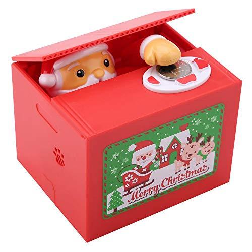 DEWIN Sparbox - Automatische Geldsparbox Nette Weihnachten Weihnachtsmann Automatische Diebstahl Münze Cent Geldsparbox für Kinder