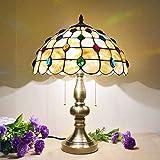 Lámpara de Mesa para Interior,Lámpara de Cabecera Moderna con Vitrales,Lámpara de Escritorio de...