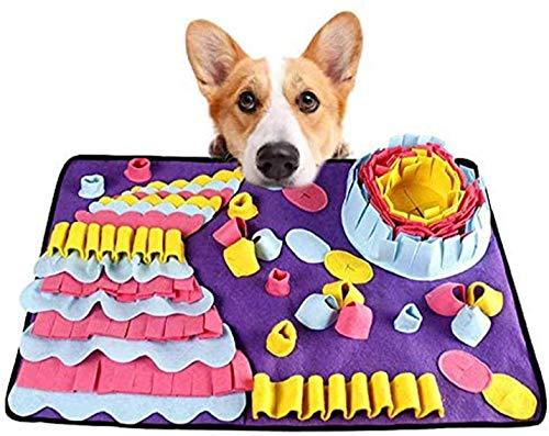 Alfombra de alimentación para animales de compañía, alfombra de alimentación para mascotas, juguetes interactivos para perros fomentan las competencias naturales (19,6 x 27.5