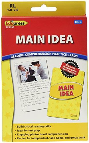 Edupress Reading Comprehension Practice Cards, Main Idea, Yellow Level (EP62995)