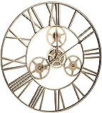 reloj de pared Relojes de pared de jardín a prueba de intemperie de hierro al aire libre reloj de pared de metal puntero preciso temporal duradero antirust no es fácil de usar Decoraciones para el hog