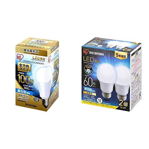 アイリスオーヤマ LED電球 E26 調光 全方向タイプ 昼白色 100形相当(1600lm) LDA17N-G W D-10V1