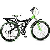 HERO Ranger DTB 6 Speed Green 26T Frame Size: 16.7 inches, Unisex-Adult,Mountain Bike(Black Green)