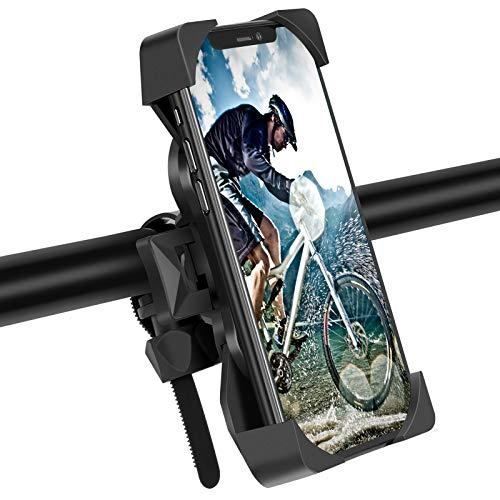 Modohe Soporte Movil Moto, Universal 360° Soporte Movil Bicicleta para iPhone 12 Mini, 12 Pro MAX, 11 Pro, XS, MAX, X, XR, 8, 7, 6S, Samsung S10 S9 S8, Huawei, Xiaomi, 4-6.8 Smartphones