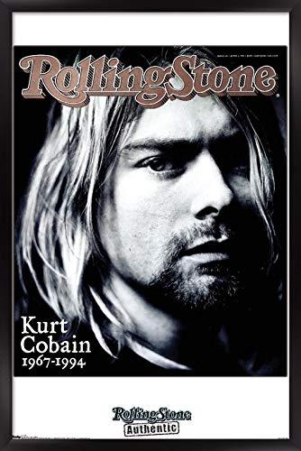 Trends International Rolling Stone Magazine - Kurt Cobain Wall Poster, 22.375' x 34', Black Framed Version