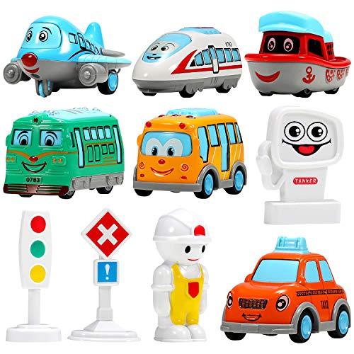 Auto Spielzeug Aufziehautos Spielzeugauto Set Aufzieh Druckgussautors Spielsachen Jung Mädchen Kinder Geschenk ab 1 2 3 Jahr