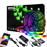 Miheal Led Light Strip, WiFi Wireless Smart Phone Controlled 65.6ft IP65Waterproof Strip Light Kit Black PCB 5050 LED Lights,Working with Android and iOS System,IFTTT[Energy Class A++](2th Gen)