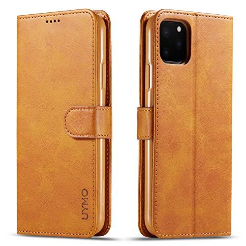 UYMO - Funda de Piel sintética para iPhone 11 Pro, con Soporte, con 3 Compartimentos para Tarjetas, Compatible con iPhone 11 Pro de 5,8 Pulgadas