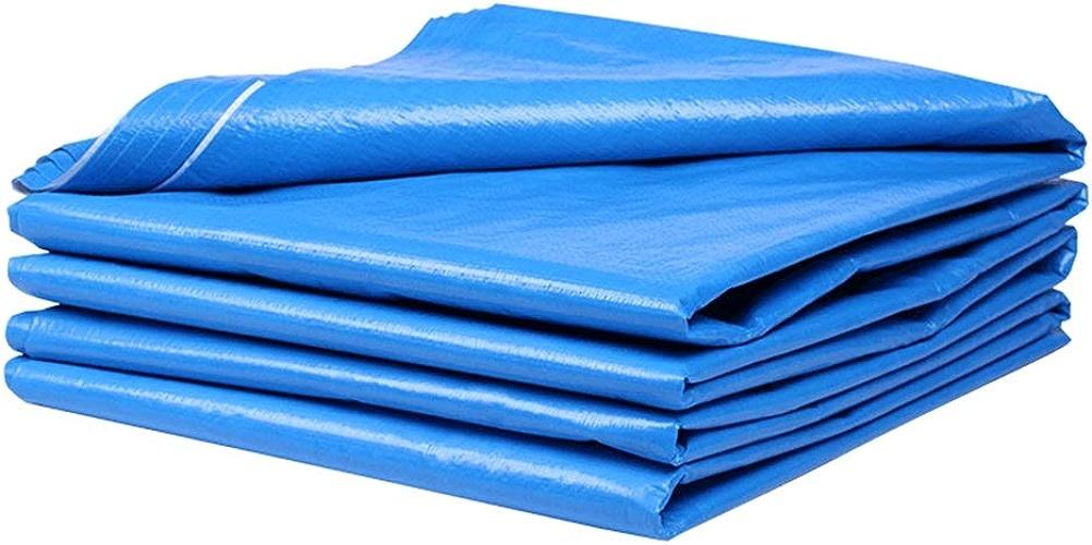 Bache Multicouche Tarpaulin dans plusieurs tailles et épaisseurs, Toile de prougeection solaire antipluie, Bleu, 140g   m2 (taille   4×4m)