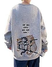 メンズ パーカー 長袖 Tシャツ バック プリント トレーナー プルオーバー スウェット おおきいサイズ カジュアル おしゃれ 可愛い 丸首 おもしろ かわいい オシャレ 春秋冬