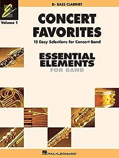 Concert Favorites Vol. 1 - BB Bass Clarinet: Essential Elements Band Series