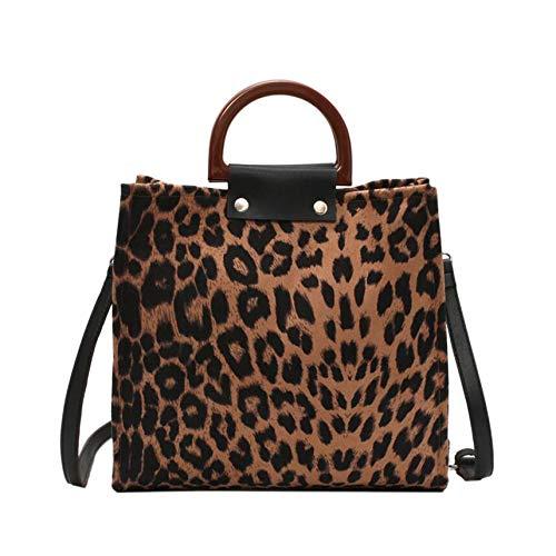 Binchil Bolsos Leopardo Mujer Bolsos Cuero Gran Capacidad
