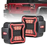 FieryRed LED Tail Lights Compatible with 2018-2021 Jeep Wrangler JL Brake Reverse Light Rear Back Up Lights Daytime Running Lamps