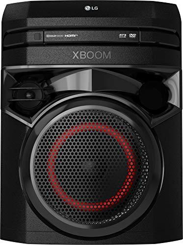 LG XBOOM ON2DN Party-Lautsprecher, Onebody-Soundsystem (Bluetooth, HDMI, Karaoke-Funktion), schwarz [Modelljahr 2020]