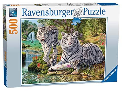 Ravensburger-14793 Rompecabezas de Tigres Blancos 500 Piezas para Adultos y niños de 10 años en adelante, Multicolor (14793)
