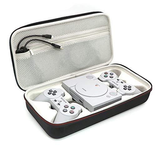 Honbobo - Custodia antiurto in EVA per Sony Playstation Classic Mini Console, 2 controller e altri accessori