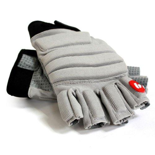 BARNETT FLGC-02 American Football Handschuhe Linemen Neue Passform, Kurze Finger, OL,DL, GRAU (XL)