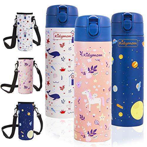 Botellas De Agua Acero Inoxidable Para Niños Marca KIDYMOM