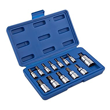 Neiko 10071A Torx Bit Socket Set, T8 - T60, S2 Steel | 13-Piece Set