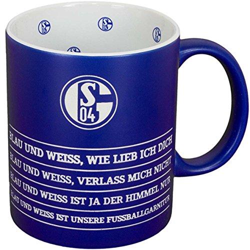 FC Schalke 04 Hymne Tasse Mug Kaffeebecher (blau/weiß)
