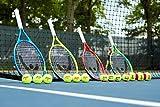 Penn QST 60 Tennis Balls - Youth Felt Orange Dot Tennis Balls for Beginners - 3 Ball Polybag