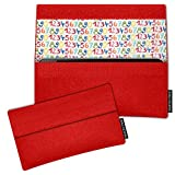 SIMON PIKE Hülle Tasche kompatibel mit Samsung Galaxy S8 Active | Filztasche Newyork in 12 rot aus Filz (echtem Wollfilz) Handyhülle