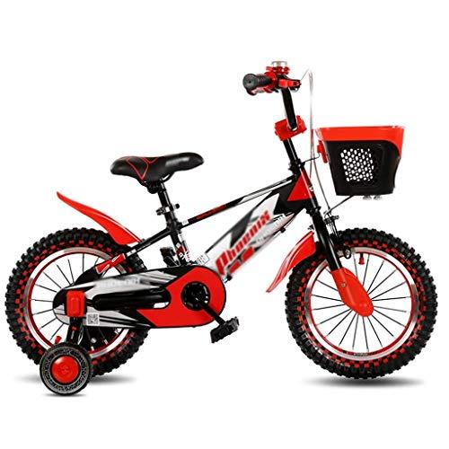 Xiaoyue Fahrräder for Kinder im Freien Fahrrad Jungen-Mädchen-Übungs-Fahrrad Freizeit Buggy Indoor Kinderwagen Nizza Fahrrad sehr cool Fahrrad (Farbe: Orange, Größe: 18inches) lalay