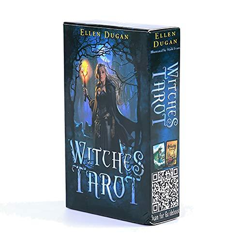 Witches kartenspiel Englisch 78 Stück/Box, Hexentarotkarten, Mysterious Divination Fate Tarotkarte, Brettspiele Für Familienfeiern
