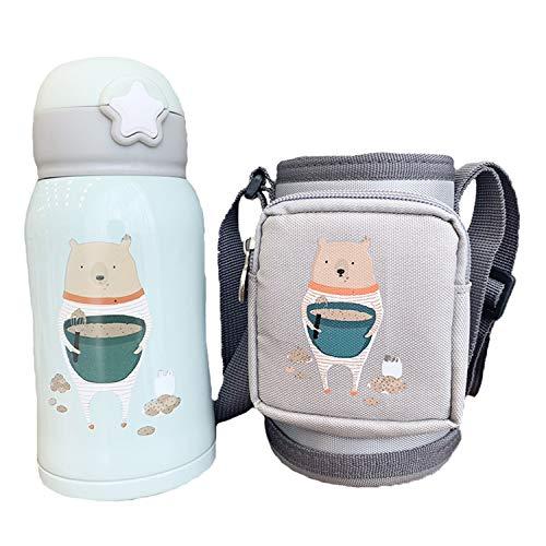 サーモス 子供水筒サーモス 可愛い 真空断熱 水筒 ステンレスボトル 直飲み 保温 サーモス 500ML/600ML クマ500ML