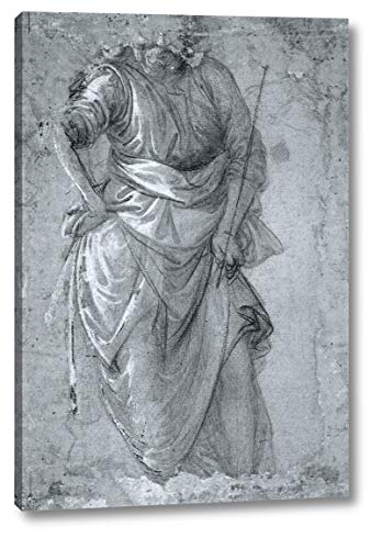 """Figure Study by Fra Filippo Lippi - 11"""" x 16"""" Gallery Wrap Canvas Art Print - Ready to Hang"""