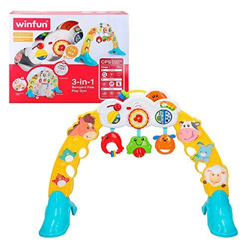 winfun - Gimnasio para bebés con luz y sonido 3 en 1 (44530)