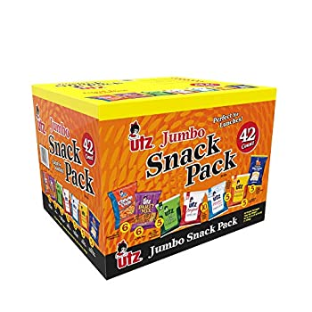 Utz Snack Variety Pack  Pack of 42  Individual Snacks Includes Potato Chips Cheese Curls Popcorn and Party Mix Crunchy Travel Snacks for Lunches Vending Machines and Enjoying on the Go