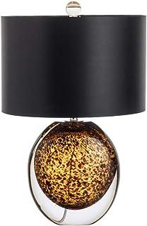 ZLMAY Moderne Ambre Cristal Lampes de Table LED Pied de Bureau Luminaires Luminaire for Home Décor Salon Chambre Lampe