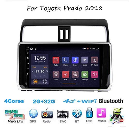 TypeBuilt Für Toyota Prado 2018 Autoradio Radio Car Video Player GPS Navi Steering Wheel Control BT SD USB Hotspot WiFi 4G Analog TV SWC Mirrorlink Sygic GPS Verkehrsinfo Navigation,4cores,2G+32G