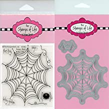 Spider-Web Halloween Stamps and Dies for Scrapbooking and Card-Making by The Stamps of Life - Web4Us and Web Die-Cuts